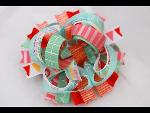 Let's make a TINY 3 inch Stacked Boutique Hairbow! / DIY bow