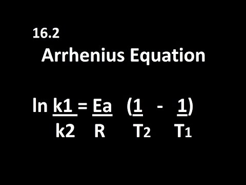 16.2 Arrhenius Equation k1,k2,T1,T2 [HL IB Chemistry]