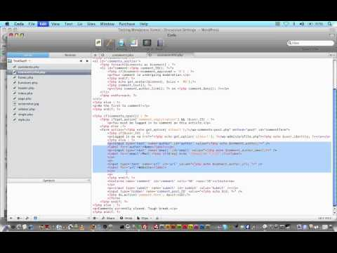 Wordpress Tutorial Trainer Part 9 -Tweaking the Comments