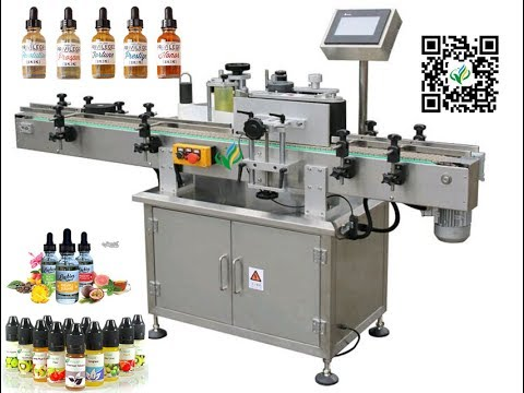 Adhesive sticker label machine for e cig bottle auto e liquid label applicator máquina de etiquetado
