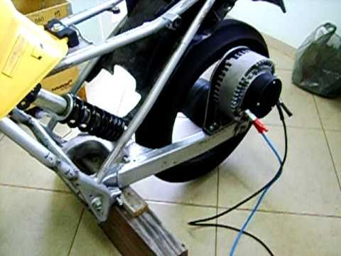 Moto elétrica - Electric motorcycle conversion