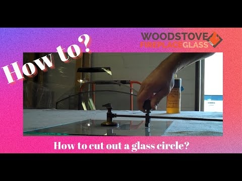 How to cut out a glass circle