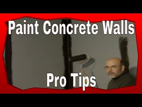 How to Paint a Concrete Wall