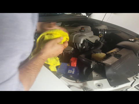 holden commodore  oil change
