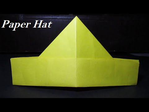 Paper hat - how to make a paper hat simple