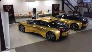 Bmw I8 Gold Chrome
