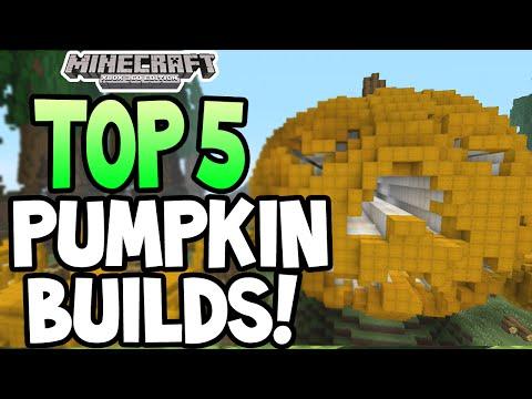 Minecraft (Xbox 360) - TOP 5 PUMPKIN BUILDS!