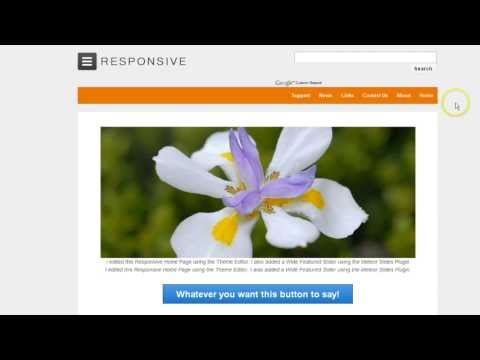 Responsive WordPress Theme Menu on Right and change Colors