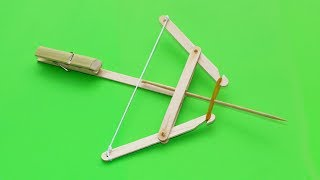 How to make Powerful Crossbow from Popsicle Sticks