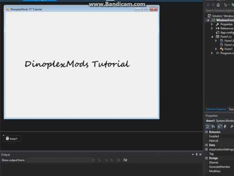 How To Make Flashing Text In Visual Studio With C#   Codes In description!