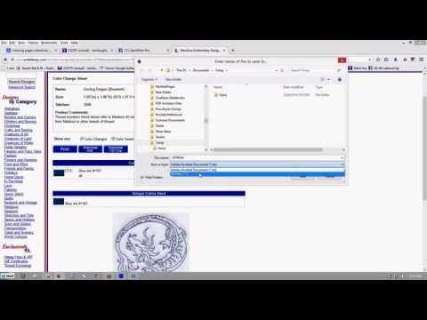 Explaining SewWhat-Pro/SWP Color Text/.txt files