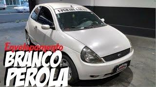 Envelopamento Ford Ka Branco Perola Sat