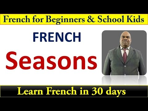 Names of seasons in French Beginners Level