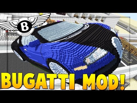 BUGATTI CAR MOD RACE | Minecraft - Mod Battle