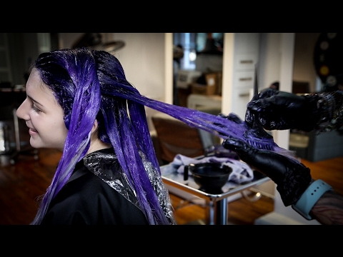Purple and Lavender Hair Color Melt Tutorial - Featuring Brian Haire