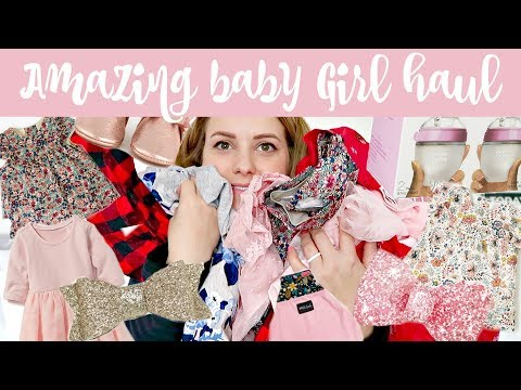 HUGE BABY GIRL HAUL || BEST NEWBORN CLOTHES & PRODUCTS!