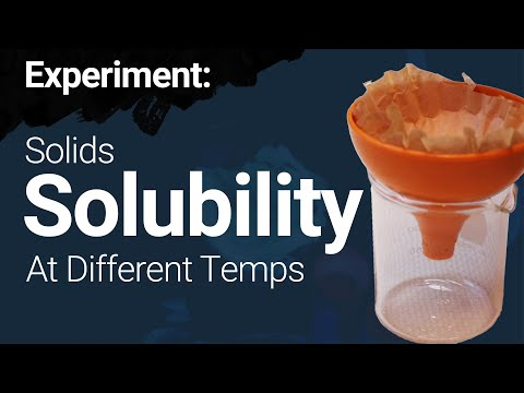 Solubility of Solids at Different Temperatures - Experiment