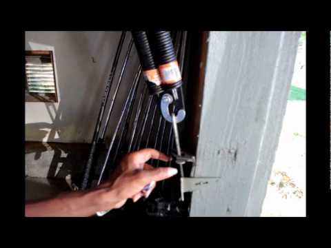 How to change the side spring on the garage door