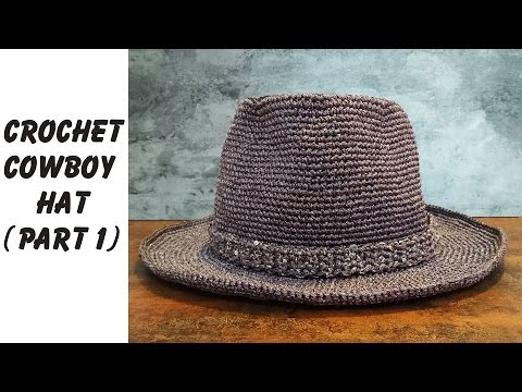 Easy crochet: How to crochet Cowboy Hat Part 1 (ENG sub)