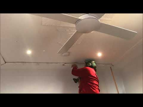 Attaching an Ornate Ceiling strap back up onto a fibrous plaster ceiling