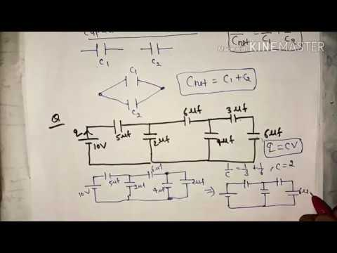 capacitor in series and parallel in hindi