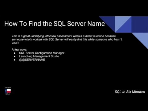 How To Find the SQL Server Name