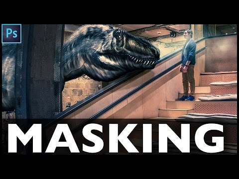 Photoshop Masking Tutorial - How to Add Dinosaurs into Photos in NY