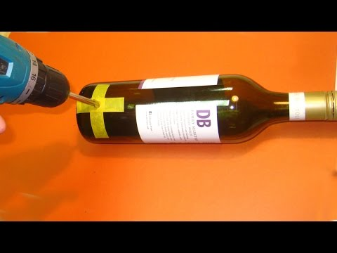 How to drill a hole in a Wine Bottle