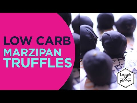How To MAKE Marzipan Low Carb Balls (NO BAKE DESSERT)