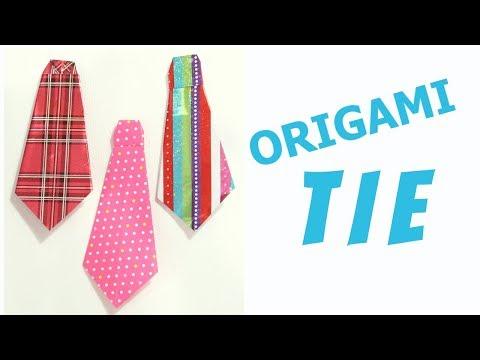 ORIGAMI TIE | PAPER TIE | CREATIVE MOM TANU | EASY ORIGAMI |KIDS CRAFT | PAPER FOLDING | PAPER CRAFT