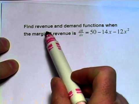 Calculus: Finding cost and revenue functions from marginal cost and revenue functions