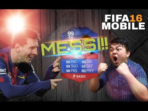FIFA 16 MOBILE IOS / ANDROID I GOT MESSI!!!!