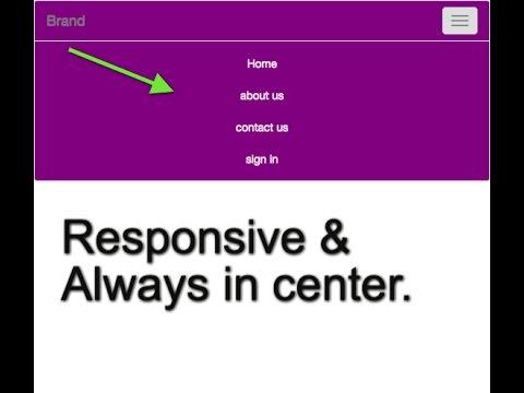 How to design Bootstrap Responsive Navbar and Always in center in 5 min | Responsive Navbar