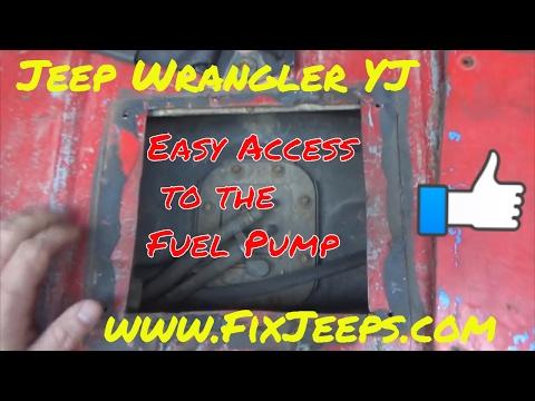 Jeep Wrangler YJ - Fuel Pump Access panel mod