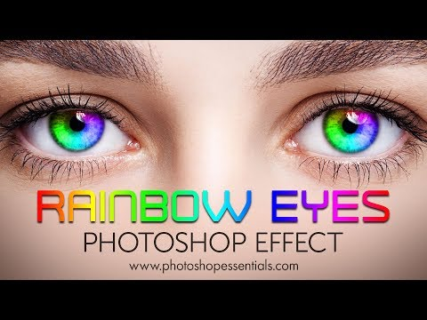Photoshop Rainbow Color Eyes Effect Tutorial
