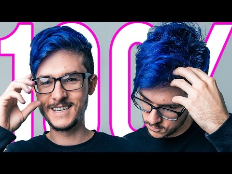 DYING MY HAIR BLUE!!! (100K Subscribers)