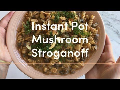 Instant Pot Mushroom Stroganoff with Vodka