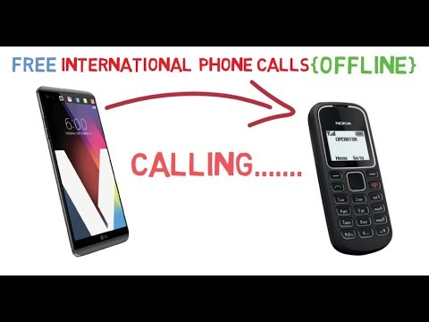 How to make free and unlimited international phone calls offline in hindi