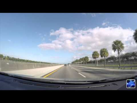 Driving from Miami to Orlando in 3 minutes - timelapse -
