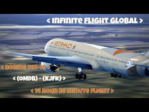 Infinite Flight Global Timelapse - (OMDB) Dubai - (KJFK) New York - Boeing 787-10