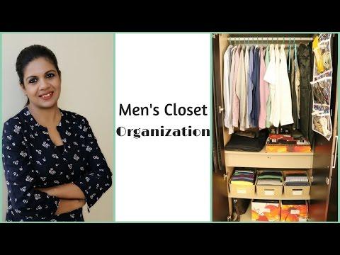 Men's Closet Organization - How To Organize Men's Clothes