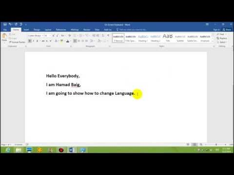 How to Change Language In MS Word