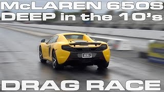 McLaren 650S Spyder runs deep in the 10's on Stock on OEM Tires 1/4 Mile Drag Race