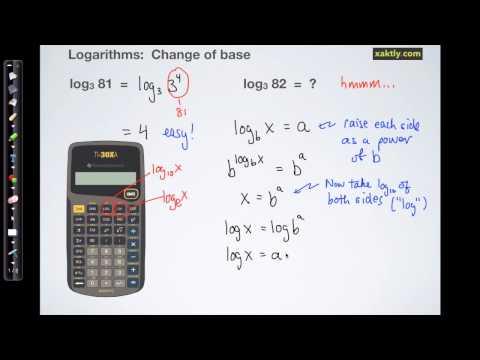 Logs: Deriving the change of base formula