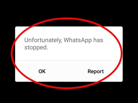 Fix Unfortunately WhatsApp has stopped working Error in Android|Tablet