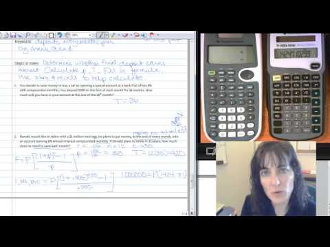 Formula Journal: Annuities: TI-30Xa