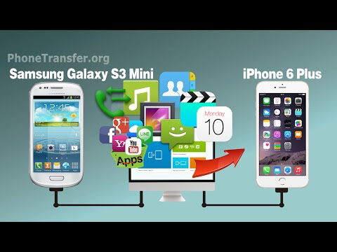 How to Transfer Contacts, SMS, Videos, Photos, Music from Samsung Galaxy S3 Mini to iPhone 6/6 Plus