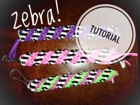 The Zebra Stitch Tutorial For Boondoggle, Lanyard, Scoubidou