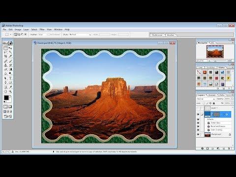 Tutorial Photoshop |Cara membuat frame foto dengan Costume Shape di photoshop