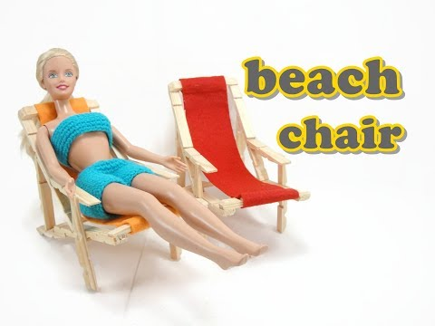 Doll Furniture Tutorial - Beach Chair